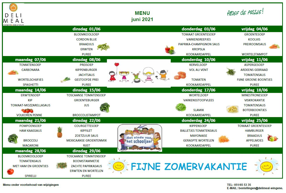 menu juni